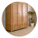Oxfordshire Solid Oak Cheap Priced Wardrobe